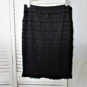 Studio M black lace elastic waist skirt medium